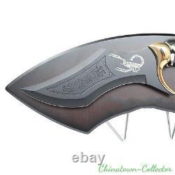13.7 Fantasy Scorpio Scorpion Dagger Blade Knife Sword and Display Plaque #0011