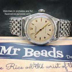 17mm Beads of Rice Full Polish Stainless Steel Bracelet for Vintage Watch BOR
