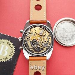 1973 Bulova Chronograph watch Blue dial +full set 666ft devil ref @WatchAdoption