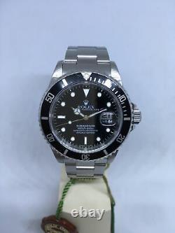 1995-96 Rolex Submariner Ref. 16610 Stainless Steel Black Dial & Bezel FULL SET