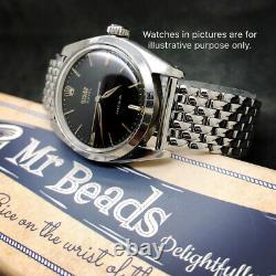 20mm Beads of Rice Full Polished Stainless Steel Bracelet for Vintage Watch BOR