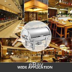 3 Packs Chafing Dish Roll Top Chafer 8 Qt Stainless Steel With handles Full Size