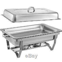 4 Pack Catering Stainless Steel Chafer Chafing Dish Sets 9 Qt Full Size Buffet
