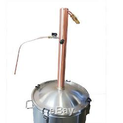 65L/240V/3500W AlcoEngine Full Copper Reflux Still Kit Make Whisky/Bourbon/Rum