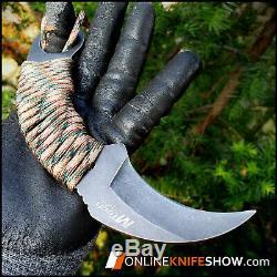 7 MTECH TACTICAL COMBAT Karambit FIXED BLADE KNIFE Army Hawkbill with SHEATH NEW