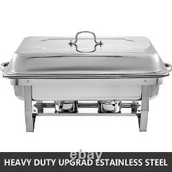 8 Pack Catering Stainless Steel Chafer Chafing Dish Sets 8Qt Full Size Buffet