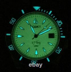 Aquacy 1769 Men's Automatic 300M Full Luminous Dive Watch Miyota 9015 1769. FLM