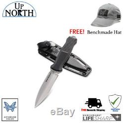 BENCHMADE 133 INFIDEL FIXED BLADE BOOT KNIFE With KYDEX SHEATH & D2 BLADE