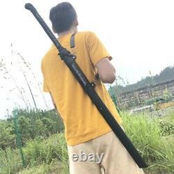 BLUE DRAGON SAMURAI SWORD Black Japanese Ninja Bushido KATANA Fixed Blade Sword