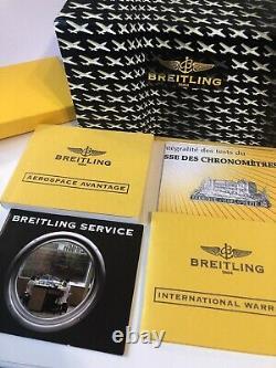 BREITLING Airwolf SuperQuartz 43mm Graphite Dial, Full Set, A78363