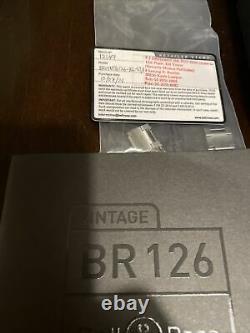 Bell & Ross Vintage Original BR 126-BL-ST/SST Chronograph Full Set MSRP $4600