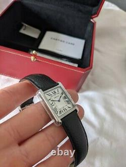 Cartier Tank Solo 2020 Size L 34x27mm WSTA0028 Full Box & Papers Great Condition