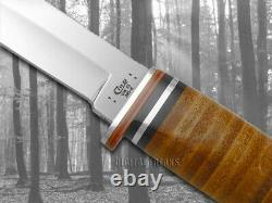 Case xx Fixed Blade Hunter Knife Polished Leather Handle 00385