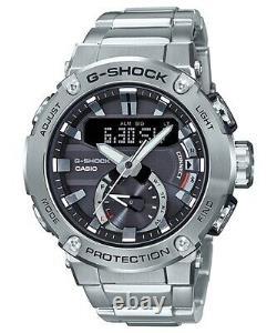 Casio G-Shock G-Steel Carbon Core Guard Full SS Bluetooth Watch GST-B200D-1