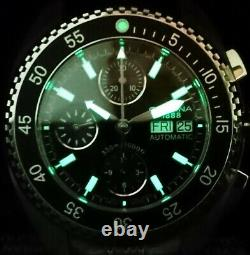 Certina DS-3 Chrono Automatic Day-Date Valjoux 7750 330m diver new full warranty