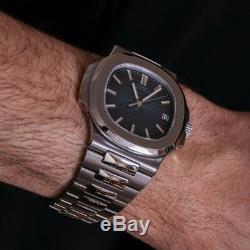Classic Men's Wrist Watch Swiss Homage Quartz Date Full Steel Sapphire Crystal