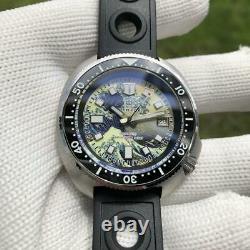 Custom 200m Diver Watch Kanagawa Full Lumed Dial Seiko Japan Automatic Movement