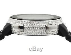 Custom Brand New Mens I Gucci Digital White Full Diamond Watch YA114205 4.0 Ct