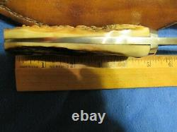 Custom Knife. Handmade Greg Smith (JaGED) Stag Hunter Unused Excellent