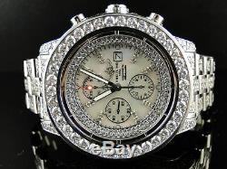 Custom Mens Breitling Super Avenger Full Diamond Watch 32 Ct
