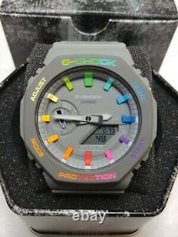 Custom Rainbow Casio G-Shock CasiOak GA2110ET-8A Full Bezel