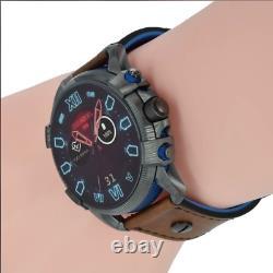 Diesel Men's Full Guard 2.5 48mm Black Dial Leather Smartwatch DZT2009