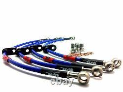 Escort MK3 / MK4 FULL KIT Wezmoto Stainless Steel Braided Brake Hoses Lines
