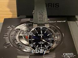 Excellent Condition Oris Aquis Blue Men Watch Full Set
