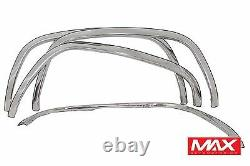 FTCH207 88-98 Chevy CK Pickup GMC Sierra witho side moldings Stainless Fender Trim