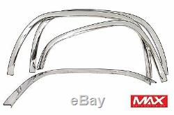 FTCH208 04-14 Chevy Colorado 04-12 GMC Canyon witho Flares Stainless Fender Trim