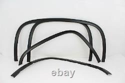 FTCH804 07-13 Chevy Silverado 1500/2500 Matte Black Stainless Steel Fender Trim