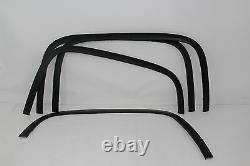 FTCH805 2014-2015 Chevy Silverado 1500 Matte Black Stainless Steel Fender Trim