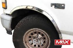 FTFD209 1887-1996 Ford F150 F250 F350 Custom Bronco Stainless Steel Fender Trim