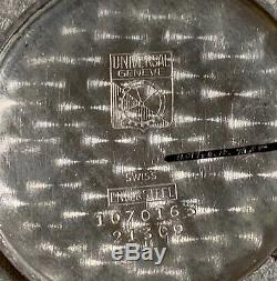 FULL MECHANICAL RESTORATION 1940s UNIVERSAL GENEVE TRIPLE DATE MOON PHASE