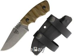 Flagrant Beard Forerunner Fixed Knife 3.5 1095HC Steel Blade Micarta Handle