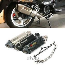 For Yamaha GY6 125 250 Full Motorcycle Exhaust System Front Pipe Muffler End Tip
