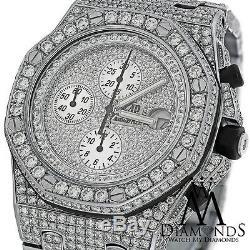 Full Diamonds Audemars Piguet Royal Oak Offshore Watch Diamond Dial