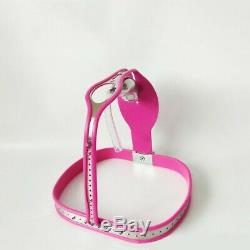Full Male Chastity Belt Device Stainless Steel / drainage pipe pink thigh bands