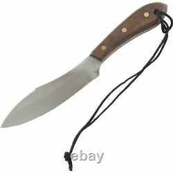 Grohmann Survival Rosewood Handles Fixed Blade Knife 10.25 Full Tang Sheath