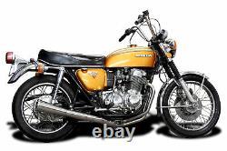 Honda CB750 CB750K 69-76 Full 4-1 Exhaust Stainless Steel Header and Muffler
