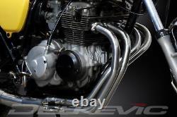 Honda Cb400f 1975-77 Full 4-1 Stainless Steel Exhaust Classic Straight Silencer