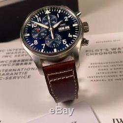 IWC Pilot Chronograph Petit Prince Blue Dial IW377714 Full Set 2017 43mm