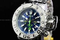Invicta 70mm Full Sea Hunter High Polished Silver Ice Berg Swiss Blue Dial Watch