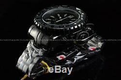 Invicta 70mm Full Sea Hunter Triple Black Devil in the Dark Night Swiss Watch