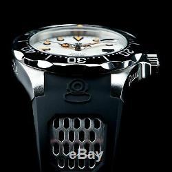 Invicta Men 47mm Full Luminous Dial Grand Diver Auto Black Strap SS Watch 300mm