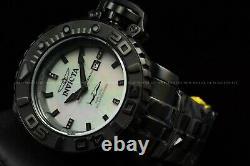 Invicta Men 70mm Full Sea Hunter Black Automatic Diamond Accent White Dial Watch