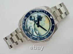 Island Watch Islander Automatic ISL-62 Kangawa Wave Full Luminous Dial Watch