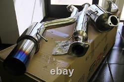 JDM SRS Full Stainless Steel CATBACK EXHAUST 04-09 Mazda 3 4DR BLUE Burnt TIP