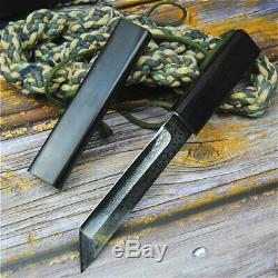 Japanese Collectible Fixed Blade Handmade Knife VG10 Forged Damascus Steel Tanto