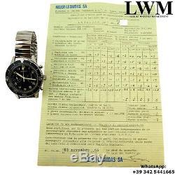 LEONIDAS Cronografo CP 2 Flyback Military Italian Army Full Set 1965